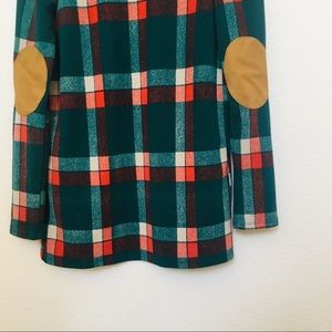 Sweaters - Éloges | plaid cardigan w/ elbow patches
